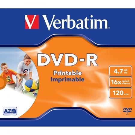 Verbatim DVD-R AZO, 4.7GB, 16X, printabil, 1buc