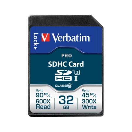 Verbatim Pro SDHC U3 32GB Clasa 10 BULK125022966