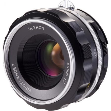 Voigtlander - Nokton Nikon AI-S 40mm f2.0 SLII, argintiu
