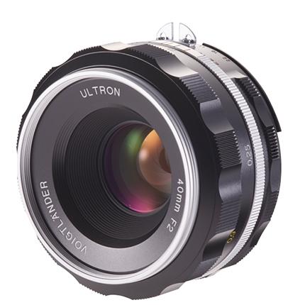 Voigtlander Ultron 40 mm F2 SL IIS - montura Nikon F/AI-S, Argintiu