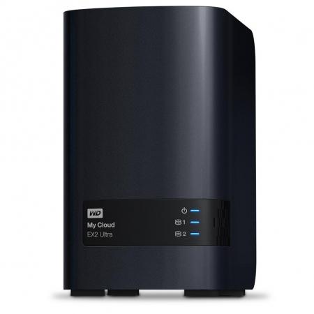 Western Digital My Cloud EX2 Ultra - NAS (Network Attached Storage), 4TB, 10/100/1000 Mb/s, Negru