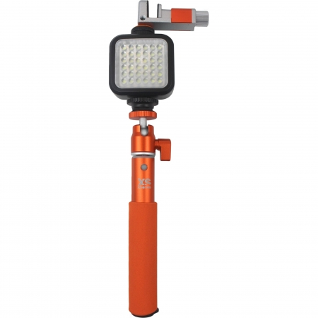 XSories Xshine Deluxe Combo - Kit selfie stick si lampa LED