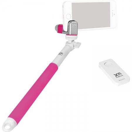 Xsories Me-Shot Deluxe 2.0 - Selfie stick, Alb/Roz