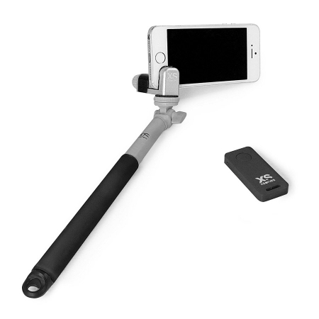 Xsories Me-Shot Deluxe 2.0 - selfie-stick 93cm cu telecomanda, negru/gri