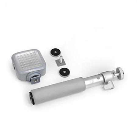 Xsories Xshine Combo - kit monopied si lampa video LED