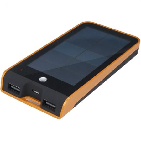 Xtrom Basalt AM118 - Baterie Externa Cu Incarcare Solara 3000 MAH Cu Doua Porturi USB, Portocaliu