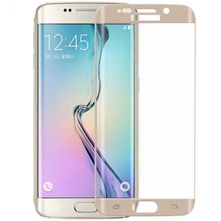 YUPPI LOVE TECH Folie protectie sticla securizata pentru Samsung Galaxy S7 Edge, Auriu