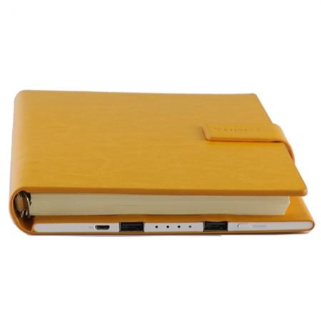 Yuppi Love Tech Agenda Notite + Baterie Externa Cu Doua Porturi USB 9000mAh, Galben