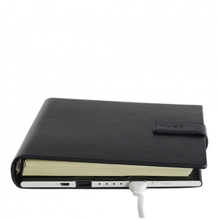 Yuppi Love Tech Agenda Notite + Baterie Externa Cu Doua Porturi USB 9000mAh, Negru