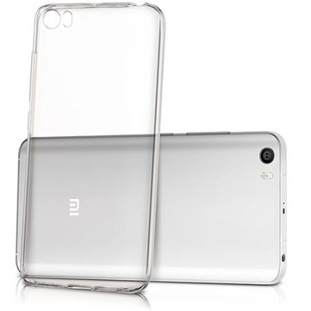 Yuppi Love Tech - Husa capac spate transparenta + Folie de protectie pentru Xiaomi Mi5