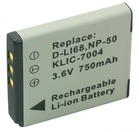 Acumulator Li-Ion tip Klic-7004 pentru aparate foto Kodak.(cod PL368B.533) 750mAh.