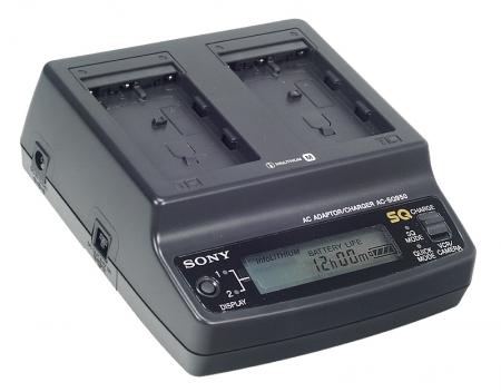 Alimentator Sony AC-SQ950D pentru acumulatorii Sony din seria M: NP-FM/NP-QM50/70/90/91 cu display