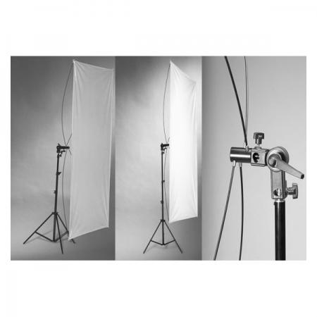 Kast blenda reflexie Silver/White, 90x180cm, cu suport