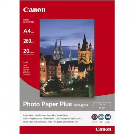 Canon Photo Paper Plus Semi-Gloss Satin A4 20 coli 260g/mp (CANSG201A4)
