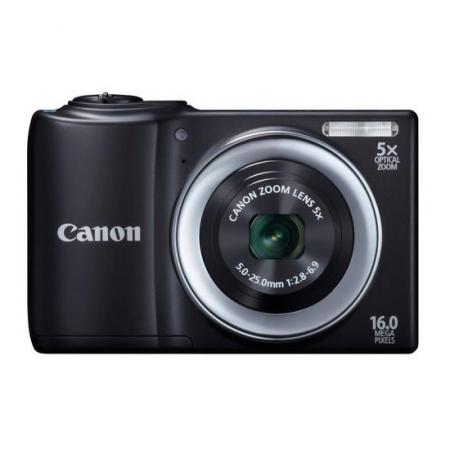 Canon PowerShot A810 negru - 16MPx, zoom optic 5x, filmare HD