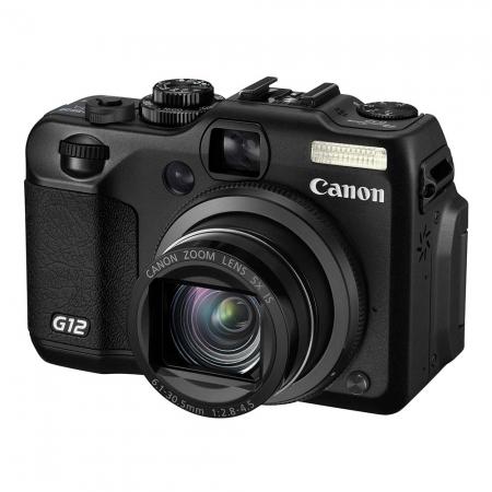 Canon PowerShot G12 Negru - 10 MPx, 5x Zoom optic, LCD 2.8