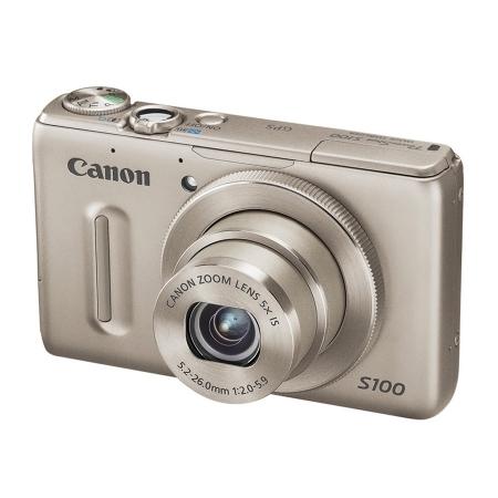 Canon PowerShot S100 IS argintiu - 12 Mpx, zoom optic 5x, LCD 3