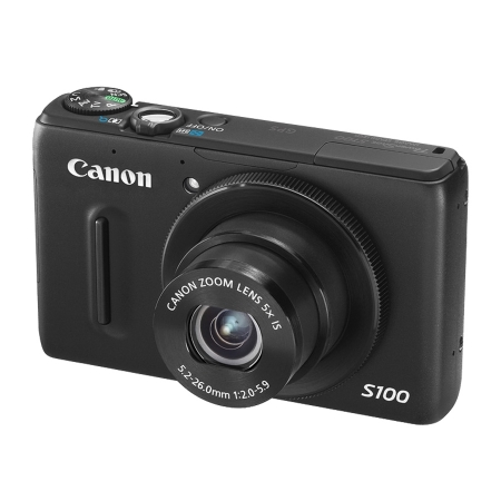 Canon PowerShot S100 IS negru - 12 Mpx, zoom optic 5x, LCD 3