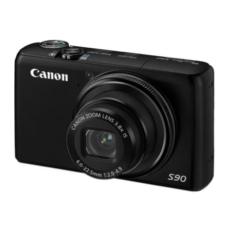 Canon PowerShot S90 IS Negru - 10 Mpx, Zoom Optic 3.8x, LCD 3.0