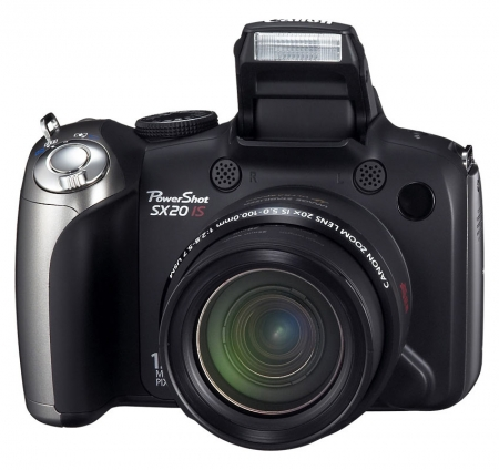 Canon PowerShot SX20 IS Negru - 12 MPx, 20x Zoom optic, LCD 2.5