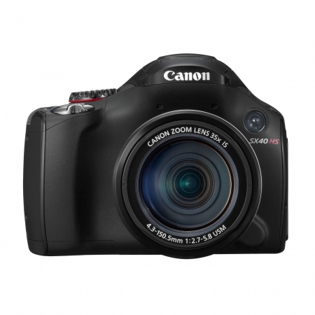 Canon SX40 HS IS negru - 12 MPx, zoom optic 35x, LCD rabatabil