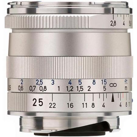 Carl Zeiss Biogon T* 25mm f/2.8 ZM (baioneta Leica M, argintiu)
