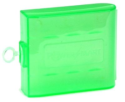 Cutie plastic pentru 4 acumulatori R6 (AA) - verde