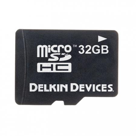Delkin MicroSDHC 32GB - card de memorie + adaptor
