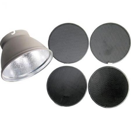 Elinchrom #26051 Reflector 21cm + set 4 Grid-uri