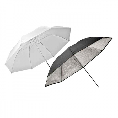Elinchrom #26062 Umbrella Set Silver-Translucent 83cm