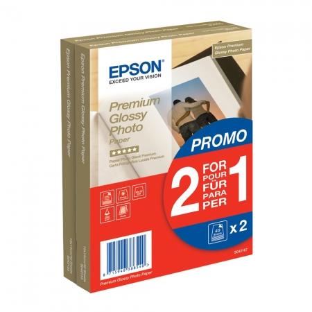 Epson Premium Glossy hartie foto 10x15cm - 2x40 coli - 255g/mp (S042167)