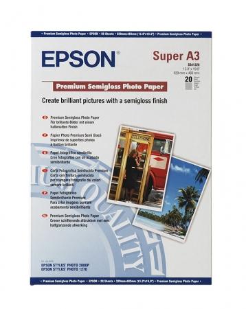 Epson Premium Semigloss hartie foto Super A3+ - 20 coli - 250g/mp (S041328)