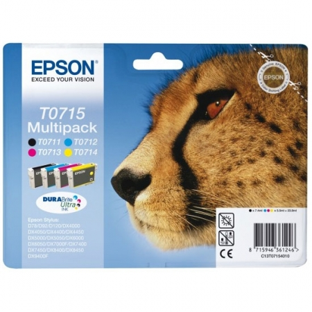 Epson T0715 DURABrite Ultra Ink - Kit cartuse imprimanta Epson S21