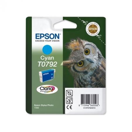 Epson T0792 - Cartus Imprimanta Photo Cyan pentru Epson R1400 - 1500w