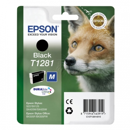 Epson T1281 - Cartus Imprimanta Photo Black pentru EpsonS22 / SX130