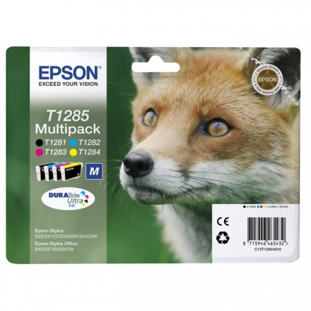 Epson T1285 DURABrite Ultra Ink - Kit cartuse Epson S22 / SX130