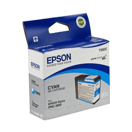 Epson T5802 - Cartus Imprimanta Cyan pentru Epson Stylus Pro 3800