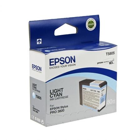 Epson T5805 - Cartus Imprimanta Photo Light Cyan pentru Epson Stylus Pro 3800
