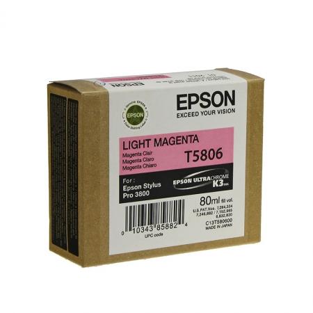 Epson T5806 - Cartus Imprimanta Photo Light Magenta pentru Epson Stylus Pro 3800