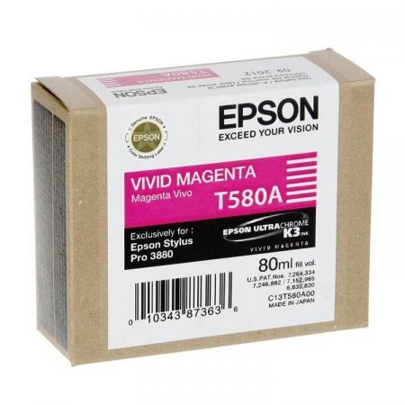 Epson T580A - cartus Vivid Magenta (Stylus PRO 3880)
