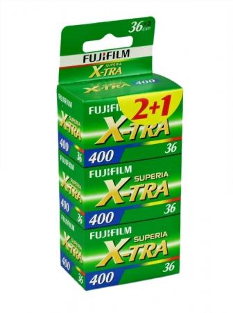 Fujifilm Fujicolor Superia X-TRA 400 - film color negativ (ISO 400, 135-36) / 3 buc