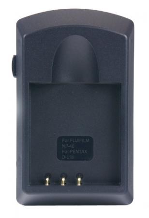 Incarcator compact pentru acumulatori Li-Ion tip NP-40 pentru Fuji.( Cod ACMP40).