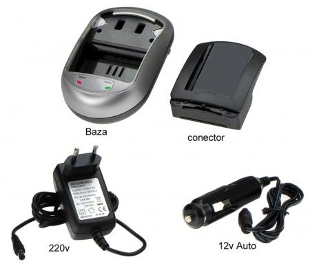 Incarcator pentru acumulatori Li-Ion tip BN-VF707, BN-VF714, BN-VF733 pentru camere video JVC. ( cod AVP707 ).