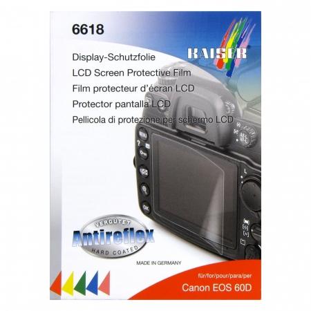 Kaiser 6618 -Folie protectie LCD pentru Canon 60D, 600D