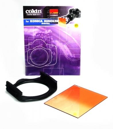 Kit filtre Cokin H523-58 -Holder P+ inel P458 + Filtru P197 Sunset