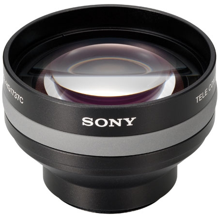 Lentila conversie Tele pentru camere video Sony cu obiective diametru 37mm Cod Sony VCL-HG1737C 1.7x Telephoto  Lens.