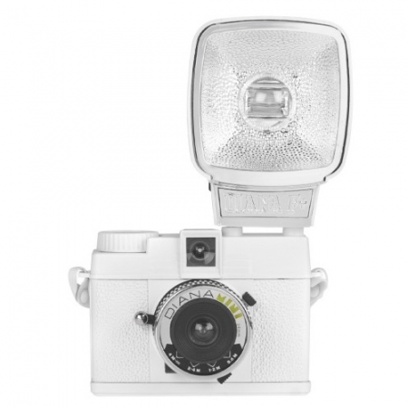 Lomography Diana Mini  Flash White - aparat foto pe film de 35mm