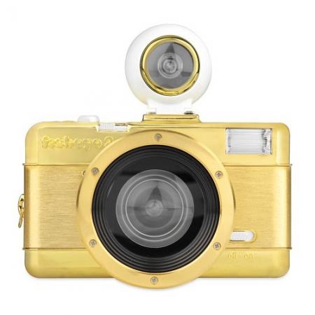 Lomography Fisheye No.2 Gold - aparat pe film cu obiectiv fisheye