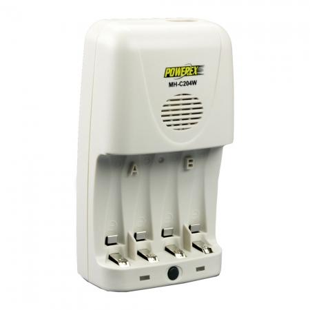 Maha MH-C204 alb - incarcator compact pentru acumulatori tip R6 AA/ R3 AAA,MAHA MH-C204W (cu discharge).