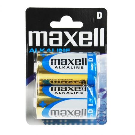 Maxell D - set 2 baterii alkaline LR20